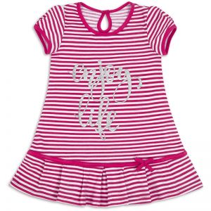Платье для девочки Полоска розовый