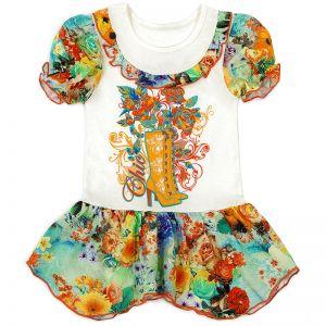 Платье для девочки Сапожки