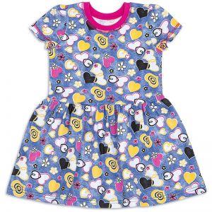 Платье для девочки Сердечки