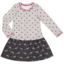Платье для девочки Сердца