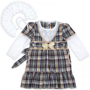 Платье для девочки Шотландка №13