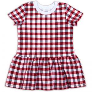 Платье для девочки клетка