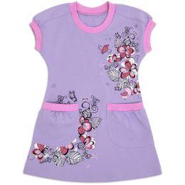 Платье для девочки с кармашками сирень