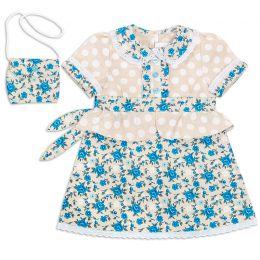 Платье для девочки с сумочкой Лён