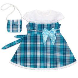 Платье для девочки шотландка №15