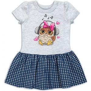 Платье для девочки совушка