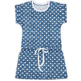 Платье на завязке для девочки Горошек