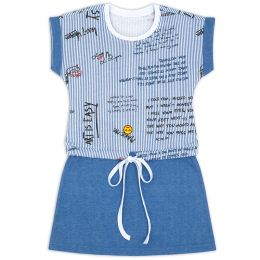 Платье на завязке для девочки Записки