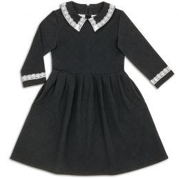 Платье школьное для девочки Кружево серый