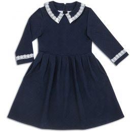 Платье школьное для девочки Кружево синий