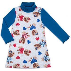 Платье водолазка для девочки Тотошка