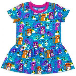 Платье ясельное для девочки Котики