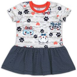 Платье ясельное для девочки Мяу