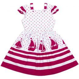Платье-сарафан для девочки Парус красный