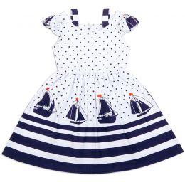 Платье-сарафан для девочки Парус синий