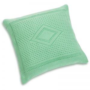 Подушка детская вязанная зелёный