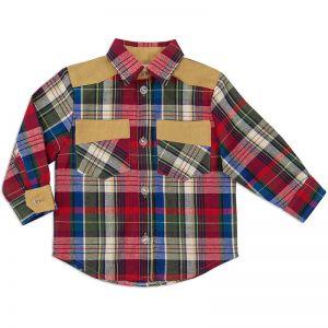 Рубашка для мальчика Шотландка №1