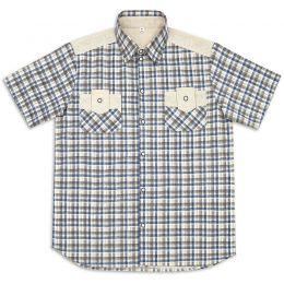 Рубашка мужская короткий рукав Лён