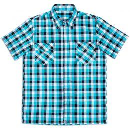 Рубашка мужская короткий рукав клетка