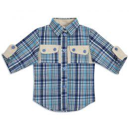 Рубашка шотландка для девочки №4