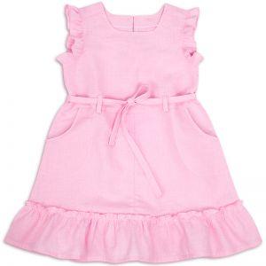 Сарафан для девочки Лён №2 розовый
