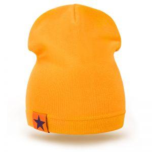 Шапка детская трикотаж оранжевый
