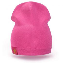 Шапка детская трикотаж ярко-розовый