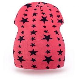 Шапка детская трикотаж звезда красный