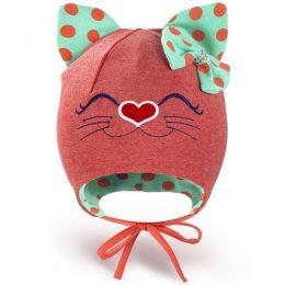 Шапка трикотажная для девочки Кошечка