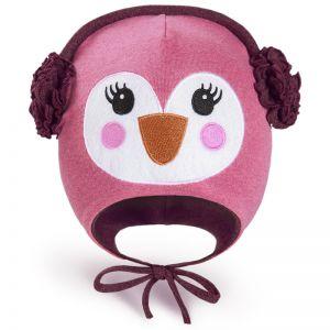 Шапка трикотажная для девочки Пингвинчик