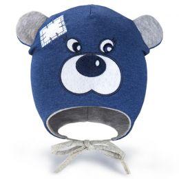 Шапка трикотажная для мальчика Мишка