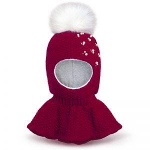 Шапка-шлем для девочки Бусинка