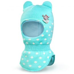 Шапка-шлем для девочки Конфетти
