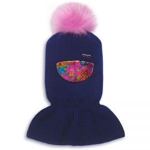 Шапка-шлем для девочки Очки