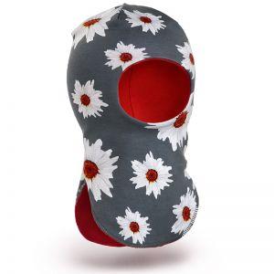 Шапка-шлем для девочки трикотаж №2