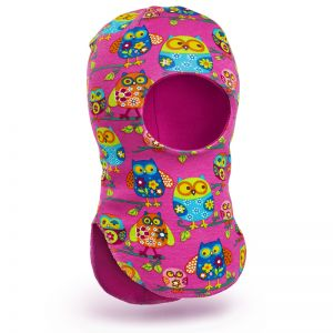 Шапка-шлем для девочки трикотаж №3