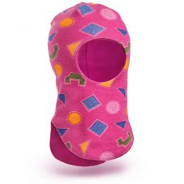Шапка-шлем для девочки трикотаж №5
