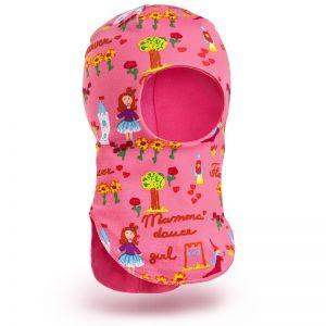 Шапка-шлем для девочки трикотаж №6
