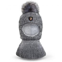 Шапка-шлем для мальчика Помпон
