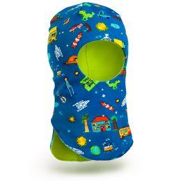 Шапка-шлем для мальчика трикотаж №1