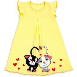 Сорочка для девочки Котики