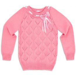 Свитер для девочки Бантик розовый